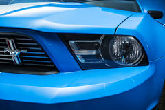 Blue-white Ford Mustang tuning Stock Photo