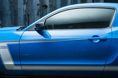 Blue-white Ford Mustang tuning Royalty Free Stock Image