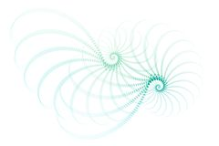 Blue White Fractal Abstract Design Stock Images
