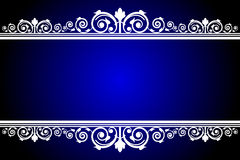 Blue and white frame Royalty Free Stock Image