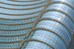 Blue and White Framed Glass Roof Stock Images