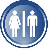 Blue and white gender button Royalty Free Stock Photo