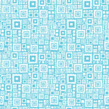 Blue and white geometric squares seamless pattern Royalty Free Stock Images