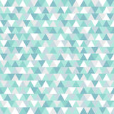 Blue and white geometric winter holiday background.. Christmas triangle vector pattern Stock Image