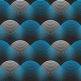 Blue white geometrical lines seamless pattern background Royalty Free Stock Images