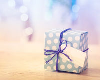 Blue and White Gift box Royalty Free Stock Photos