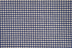 Blue and white gingham cloth background. With fabric texture Stock Images