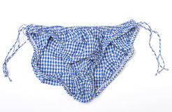 Blue and White Gingham Panties Royalty Free Stock Photography