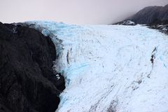 BLUE AND WHITE GLACIER CLOSE UP Stock Photos