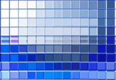 Blue and white glass mosaic Stock Image