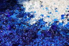 Blue and white glass particles Royalty Free Stock Images
