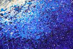 Blue and white glass particles Royalty Free Stock Photos