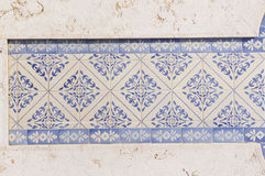 Blue and White Glazed Tiles Stock Photos