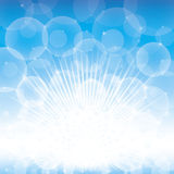 Blue and white glow Stock Photography