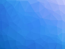 Blue white gradient abstract polygon shaped background.  Stock Images