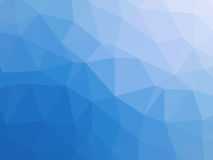 Blue white gradient abstract polygon shaped background.  Royalty Free Stock Images