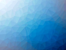 Blue white gradient polygon shaped background.  Stock Image
