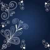 Blue and white graphic  background Stock Photo