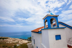 Blue and white Greek church Royalty Free Stock Image