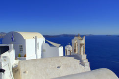 Blue white Greek islands scenic view Stock Photography