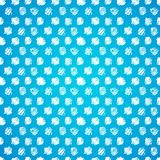 Vintage polka grunge dots seamless pattern. Blue and White grunge polka dots seamless pattern Royalty Free Stock Photography