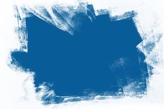 Blue and white hand painted background texture royalty free stock photo
