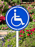 Handicap accessible sign Royalty Free Stock Image