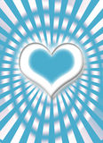 Blue and white heart Stock Photo