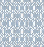Blue and White Hexagon Tile Pattern Repeat Background Royalty Free Stock Image