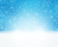 Blue white holiday, winter, Christmas card with snowfall royalty free illustration