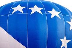 Blue and white hot air balloon Royalty Free Stock Images