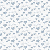 Blue and White I Love Writing Tile Pattern Repeat Background Stock Photography