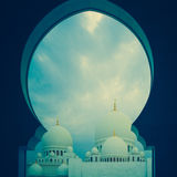 Blue and white islamic mosque Royalty Free Stock Image