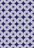 Blue and White Kalaidoscope Repeat Pattern for Wallpaper Stock Image