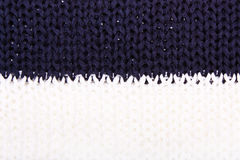 Blue White knitted texture. Stock Image