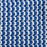 Blue and white knitting wool texture background. Close up royalty free stock photography
