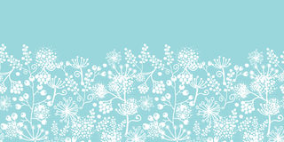 Blue and white lace garden plants horizontal Royalty Free Stock Images