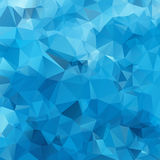 Blue White Light Polygonal Mosaic Stock Image