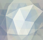 Blue and white low geometric or low poly background with triangle shapes. Blue low poly background with diamond facet or crystals texture concept, triangular Royalty Free Stock Photo