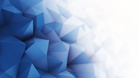 Blue white low poly surface 3D rendering. Blue white low poly surface. Computer generated abstract background. 3D rendering royalty free illustration
