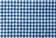 Blue and White Lumberjack Plaid Seamless Pattern Stock Images