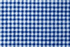 Blue and White Lumberjack Plaid Seamless Pattern. Fabric Texture, Close Up of Blue and White Lumberjack Plaid Towel or Napkin Pattern Background Royalty Free Stock Image