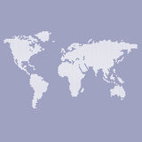 Blue and white map of the world Royalty Free Stock Photo