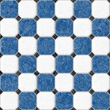 Blue and white marble square floor tiles seamless pattern texture background Royalty Free Stock Photography