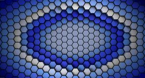 Blue and white material hexagons background template. 3d Render. Illustration royalty free illustration
