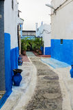 Blue and white medina in Rabat, Morocco Stock Image
