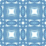 Blue white modern abstract texture. Elegant background illustration. Square seamless tile. Textile print pattern. Home decor fabri. Blue white modern abstract Royalty Free Stock Photography