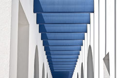 Blue and White Modern Building Royalty Free Stock Images