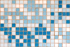 Blue and white mosaic background Royalty Free Stock Images