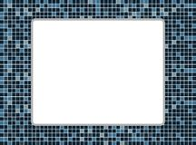 Blue and white mosaic background Stock Images